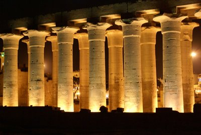 Luxor Temple glows