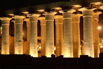 Luxor Temple glows