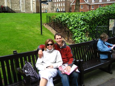 Mark and Megan at the Tower of London