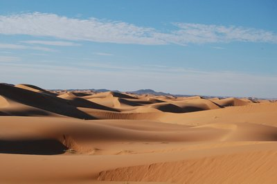 Algeria's mountains backdrop of Erg Chebbi