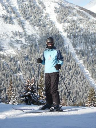 The pro skiier