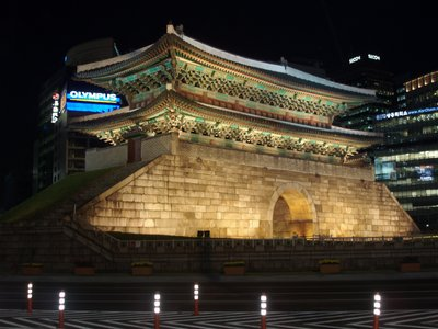 Nam Dae Mun Gate at Night