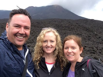 Paul, Shelly and Emma on Mt Etna