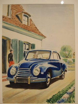 Original water colour sketch for the 54 DKW