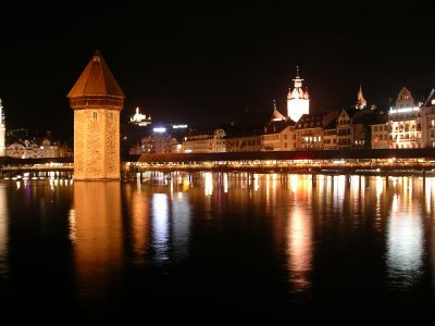 Lucern at night