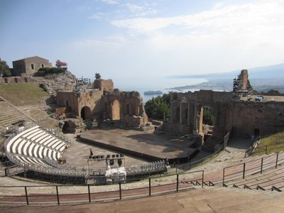 The Roman amphitheater of Taormina