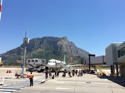 View at Palermo airport