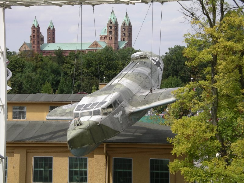 Speyer cathedral and Dornier flying boat