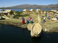 Uros floating island