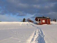 Frozen Lake Inari in Lapland