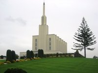 The New Zealand LDS Temple in Hamilton
