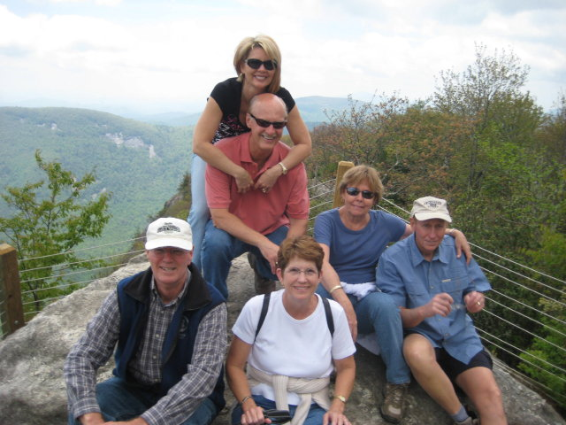 Dave, lori, Judy, Chuck,Dennis and Kathy on Whiteside mountain hike