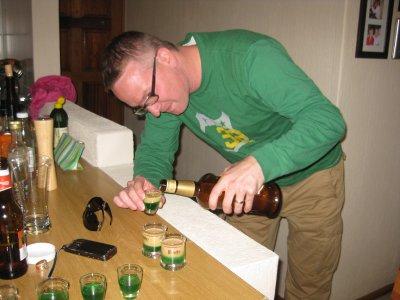Alan pouring Springboks