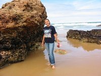 Barefoot on Phillip Island, Melbourne, Australia