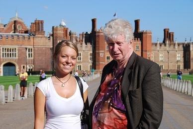 Claire and Tony at Hampton Court Palace