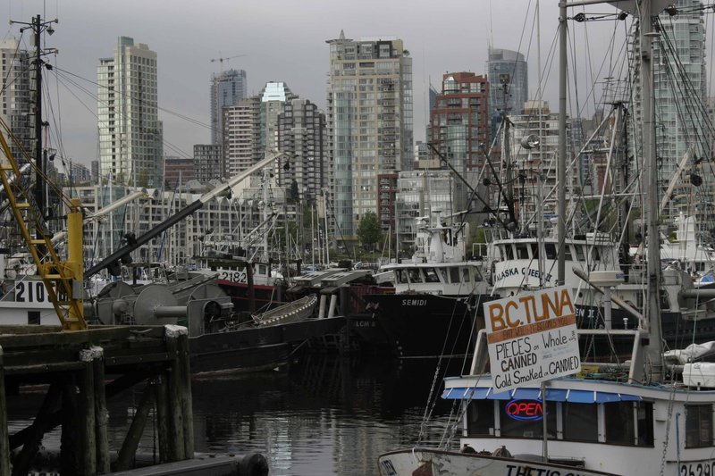Fishing boats near Granville Island, Vancouver