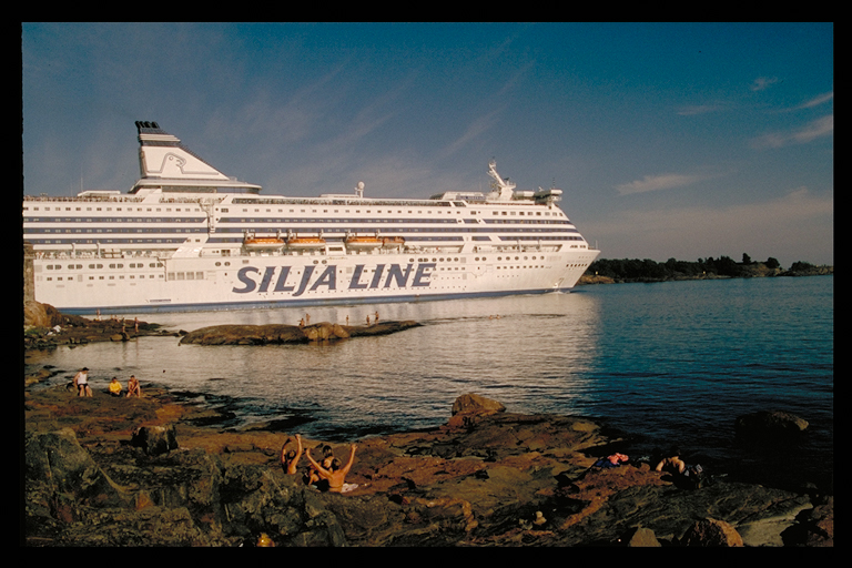 Ferry to Stockholm leaving Helsinki Harbour