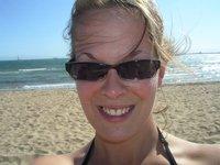 Moi sur la plage melbourienne!