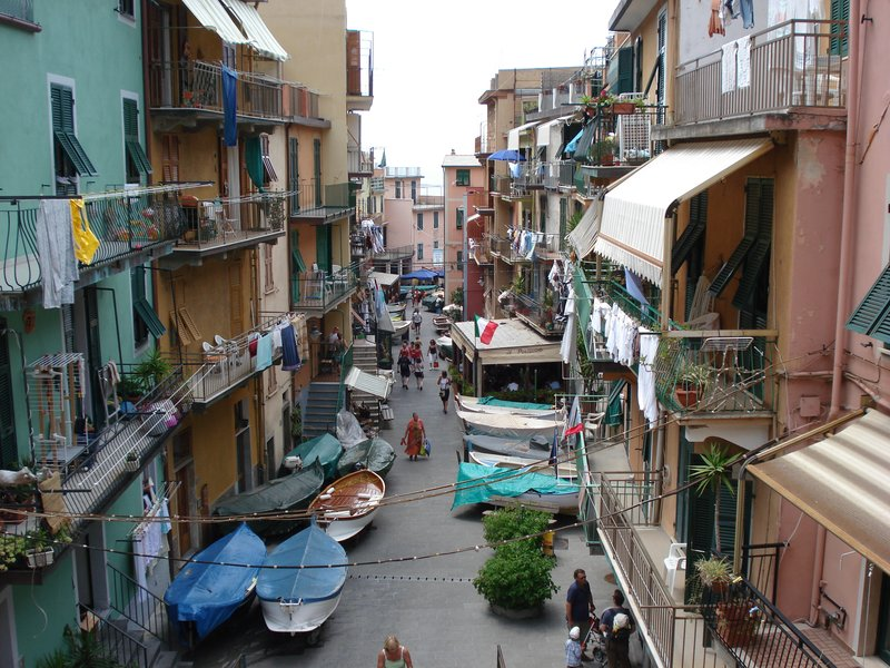 Manarola main street in Cinque Terre