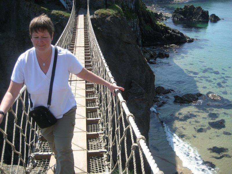 Jenn Conquers Rope Bridge!