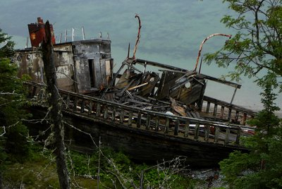 Boat wreck, Anticosti Island, Quebec
