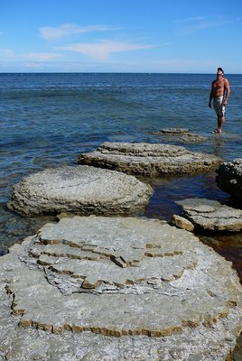 Giant steps, Anticosti Island, Quebec