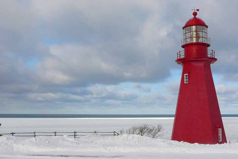 Lighthouse in Gaspesie, Quebec