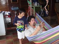 Me in hammock at home in Suchitoto