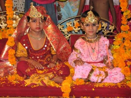 Krishna and Radha - played by kids!