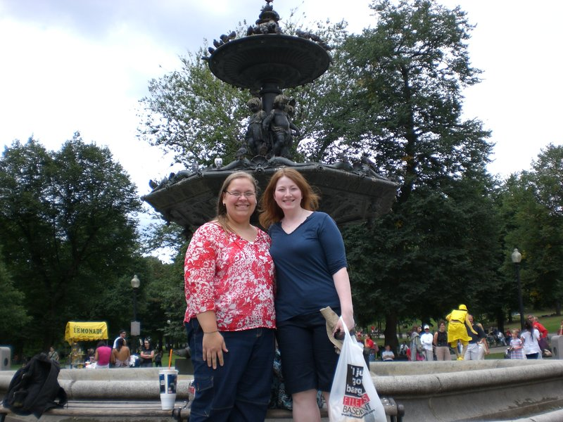 Posing in Boston Common
