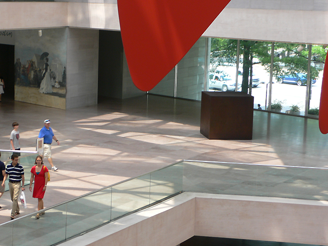Calder Lady in red