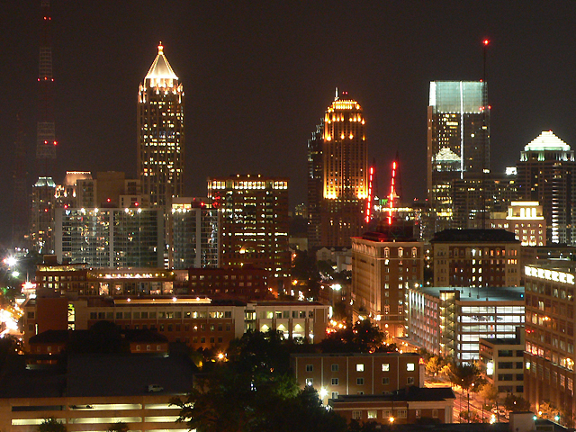 Atlanta Downtown bei Nacht