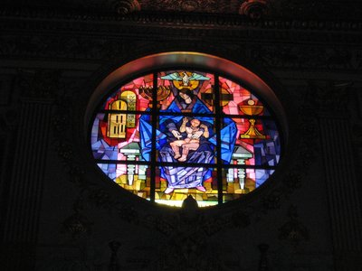 Rose window in Santa Maria Maggiore
