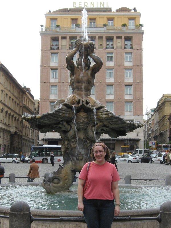 Me in front of Fontane di Triton