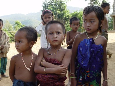 Children in remote Khmu village