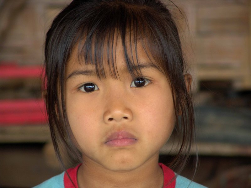 portrait of a Lao girl