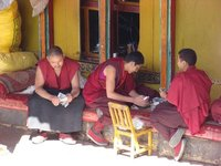Monks Counting Cash
