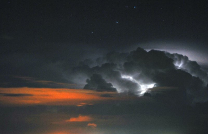Storm over the Gulf of Paria