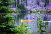 Canoe fishermen on Talbot Lake