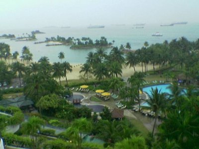 View from hotel Sentosa