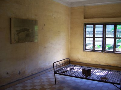 Torture cell at Tuol Sleng, former Khmer Rouge S-21 Prison.