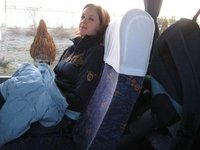 Nicole on the Bus