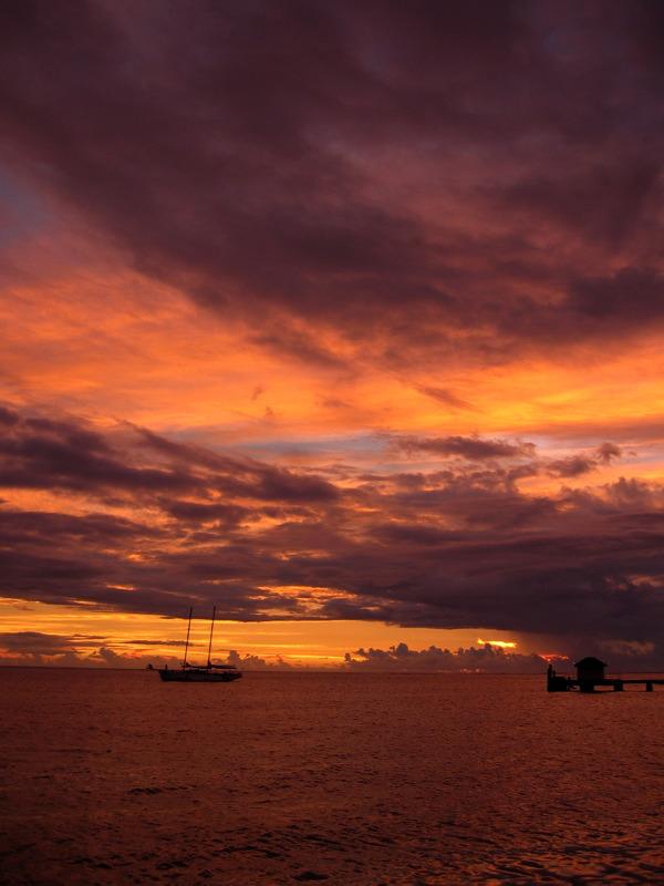 Sunset off Mana Island
