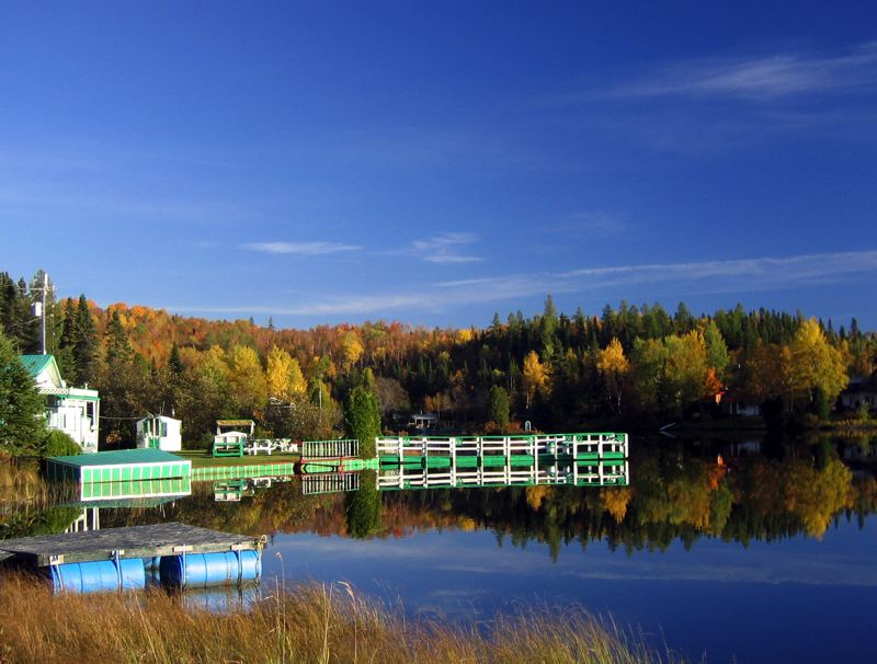 Small lake in the Saguenay region