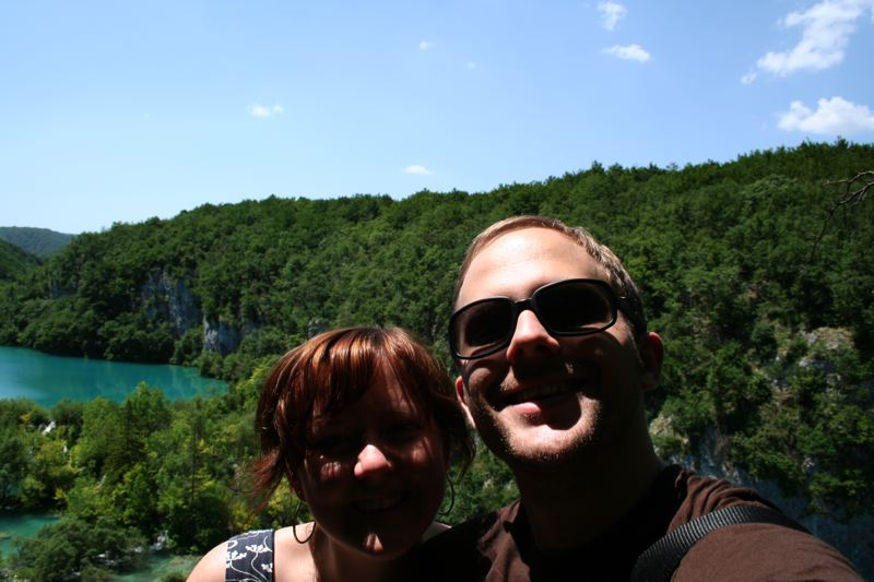 Janelle and I at Plitvice