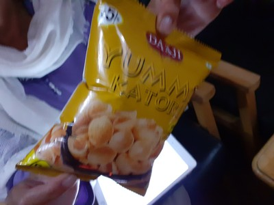 Crisp bag showing signs of our current altitude