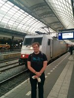 About to board the City Night Line to Munich