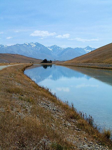 Canals near Lake Tekapo