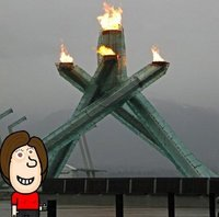 Me at the Olympic Flame