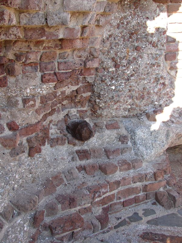 Day_107_-_Fort Sumpter, Shell in_Wall